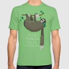 just hanging out. Mens Fitted Tee Grass SMALL