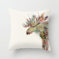 into the wild the moose Throw Pillow