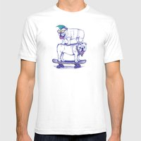 Double Dog Dare Mens Fitted Tee White SMALL