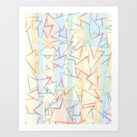 Attack Of The Triangles. Art Print