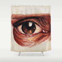 Suffered look Shower Curtain