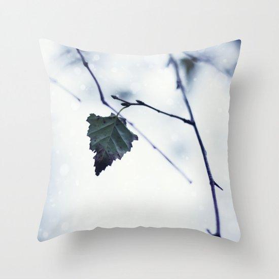 The last leaf Throw Pillow