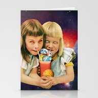 Stationery Cards featuring Exoplanet Cocktail by Eugenia Loli