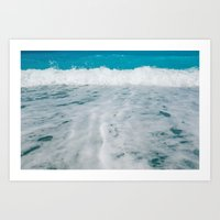 wave Art Prints featuring Wave by SensualPatterns