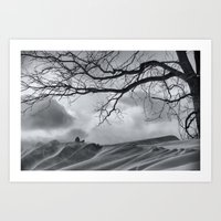 Chilling Wind Drifting Snow  2009 Art Print