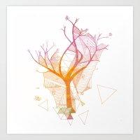 delicate tree Art Print
