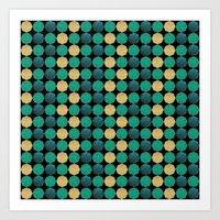 Glitzy Greens Art Print