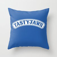 Tasty Jawn Throw Pillow