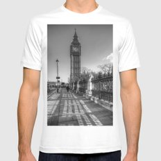 Big Ben, London White Mens Fitted Tee SMALL