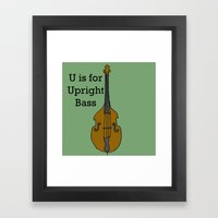 U is for Upright Bass Framed Art Print