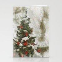 Xmas Tree Stationery Cards