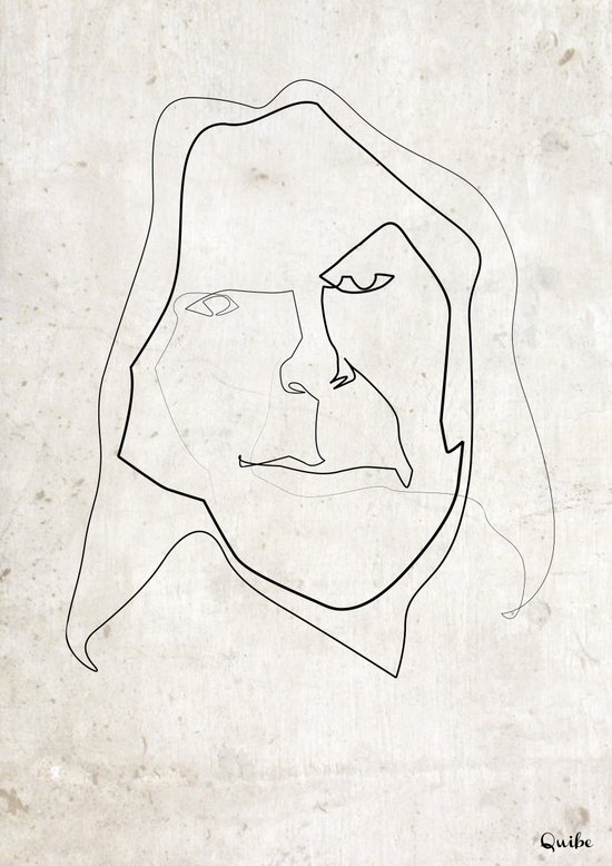 One line Neil Young Canvas Print