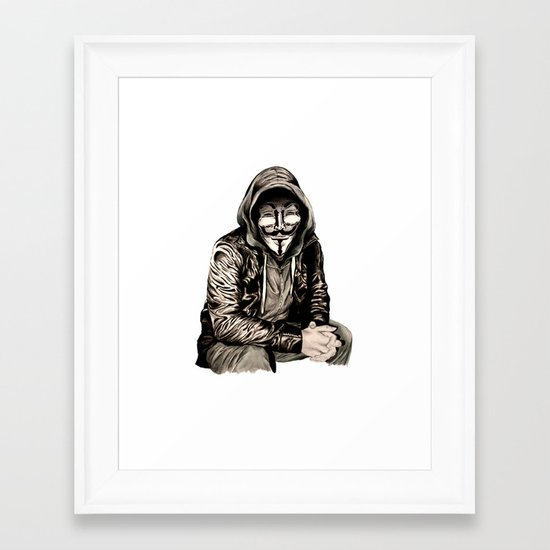 Anonymous Gangster Framed Art Print