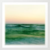 pastel sea Art Print