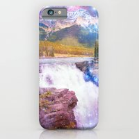 iPhone & iPod Case featuring Waterfall and Mountain by Silvana di Borboni