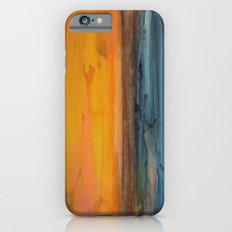 Blue and Orange - Textured Abstract iPhone 6 Slim Case