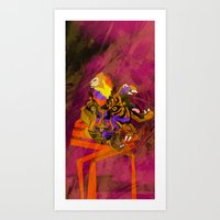 Saber Art Print