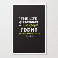 A Designers Life  Canvas Print