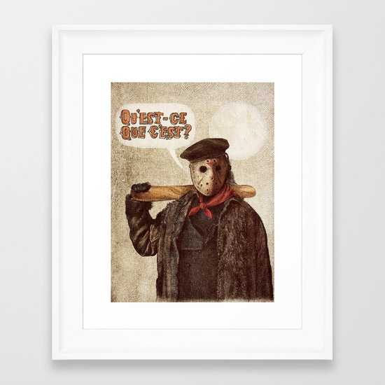 Psycho Killer Framed Art Print