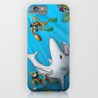 Monkeys Fighting Shark iPhone 6 Slim Case