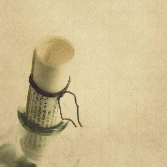 Mensaje en una botella Canvas Print