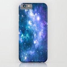 Violet Teal Galaxy Nebula iPhone 6 Slim Case