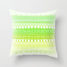 Triangle Gradient Lime Mix Throw Pillow