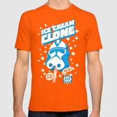 Ice Cream Clone Mens Fitted Tee Orange SMALL