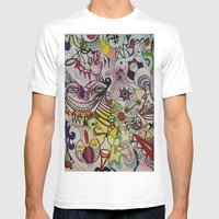 Stars Mens Fitted Tee White SMALL