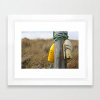 Found ~ at the beach Framed Art Print