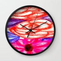 Roses And Daisies Wall Clock