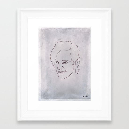 One line doctor Who (Matt Smith) Framed Art Print