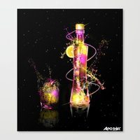 Vodka Illustration Canvas Print