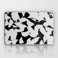 Black Bird Wings On Grey Laptop & iPad Skin