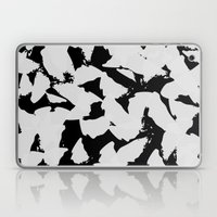 Black Bird Wings On Grey Laptop & iPad Skin