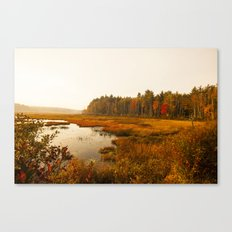 Autums Peaceful Tomorrow - New England Fall Landscape Canvas Print