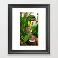 Leaf Storm! Framed Art Print