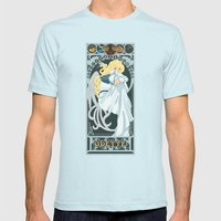 Odette Nouveau - Swan Princess Mens Fitted Tee Light Blue SMALL