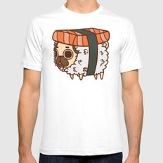 Puglie Salmon Sushi Mens Fitted Tee White SMALL