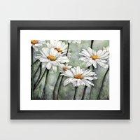 Karen's Daisies Framed Art Print