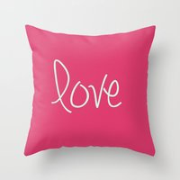 Love In Pink  Throw Pillow