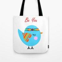 Tribal Bird Tote Bag