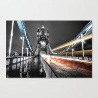 Tower Bridge at night Canvas Print