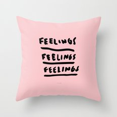 FEELINGS Throw Pillow