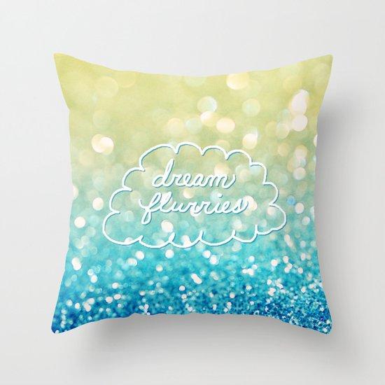 dream flurries Throw Pillow