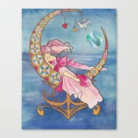 Princess Chibi Moon Canvas Print
