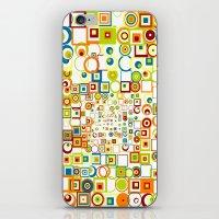 Retro Quarters + Rings iPhone & iPod Skin