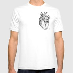 my heart White SMALL Mens Fitted Tee