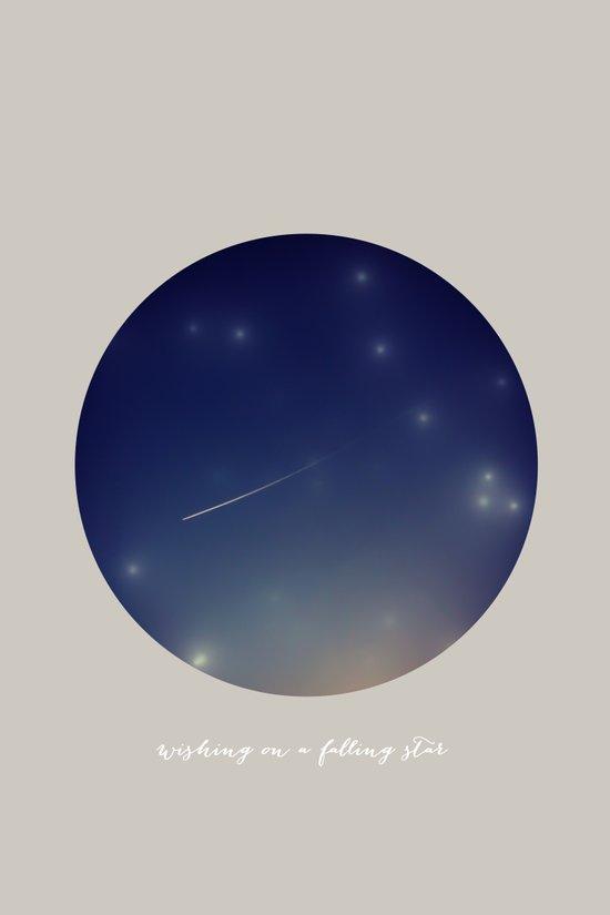 wishing on a falling star Art Print