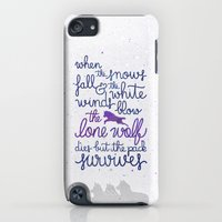 """iPod Touch Cases featuring Game of Thrones """"the lone wolf"""" by Earthlightened"""
